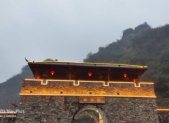 宜昌太阳能路灯-三峡富裕山古兵寨亮